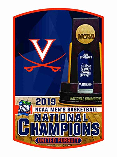 Virginia Cavaliers 2019 NCAA Basketball National Champions Wood Wall Sign