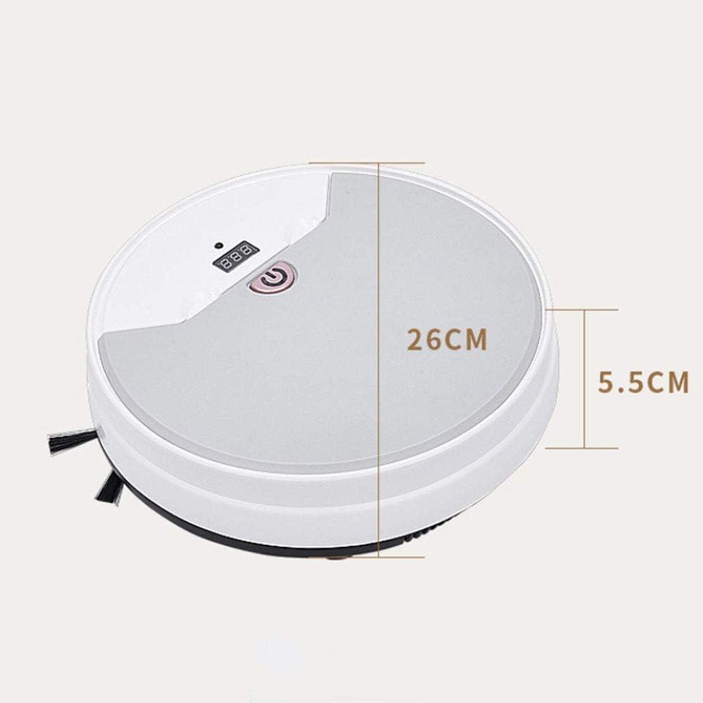 Commande à distance de balayage de charge ménage aspirateur robot trois-en-un robot de balayage ggsm (Color : White) White