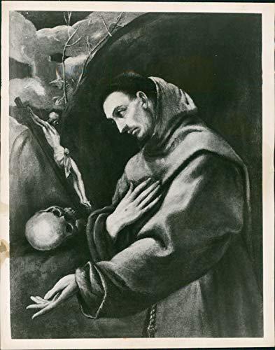 1963 Press Photo Historic Painting El Greco St Francis Vintage Artwork 8x10
