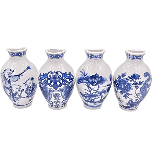 ZZ Lighting Creative Grow Plants in Oriental Ceramics Vase Refrigerator Magnets Chinese Souvenir(Mascot) -  719GHH7ZZBXT2