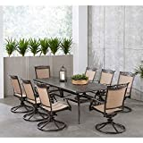 Hanover Fontana 9-Piece Dining Set with 8 Sling