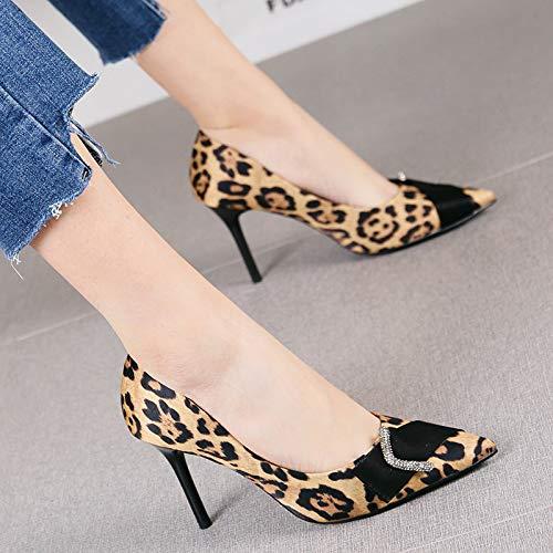 HRCxue Pumps Mode Strass Strass Strass flachen Mund einzelne Schuhe sexy Plaid Spitze Stiletto High Heels Frauen, 38, Plaid 11b4d7