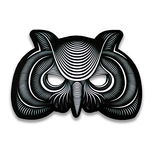 Official Animal (Owl) Sound Reactive LED Mask by Outline Montréal Perfect for Halloween, Cosplay Events and Music Festivals - A Wearable Lightshow (Owl) -