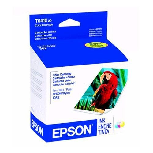 EPSON T041020 Ink 300 Page-Yield Tri-Color Unique package design Acid-free dye-based ink