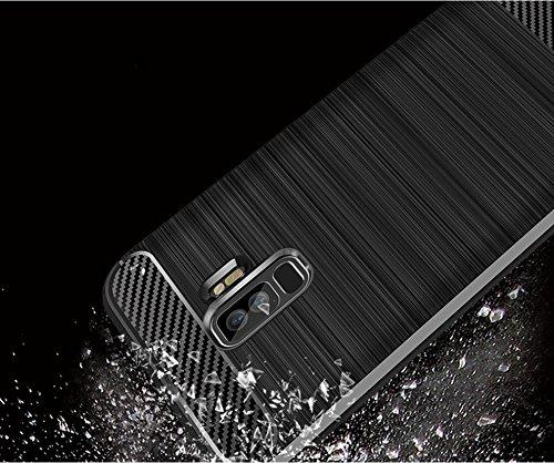 Funda Samsung Galaxy S9 Plus,Funda Fibra de carbono Alta Calidad Anti-Rasguño y Resistente Huellas Dactilares Totalmente Protectora Caso de Cuero Cover Case Adecuado para el Samsung Galaxy S9 Plus A