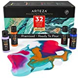 Arteza Acrylic Pouring Paint, Set of 32, 2oz