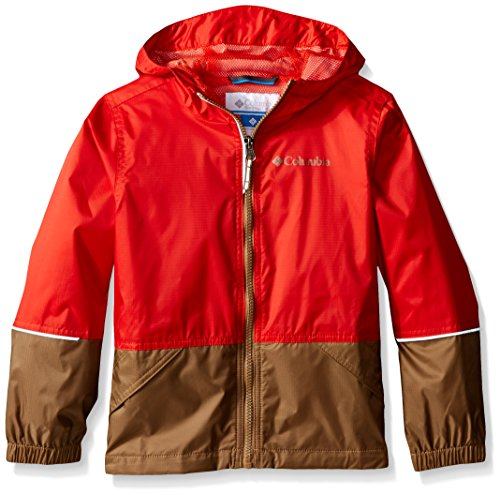 Columbia Big Boys Hot On The Trail Rain Jacket Super SonicDelta Small
