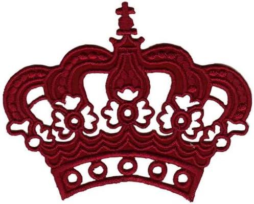 Vino rojo corona parche plancha de planchar Iron on patches ...
