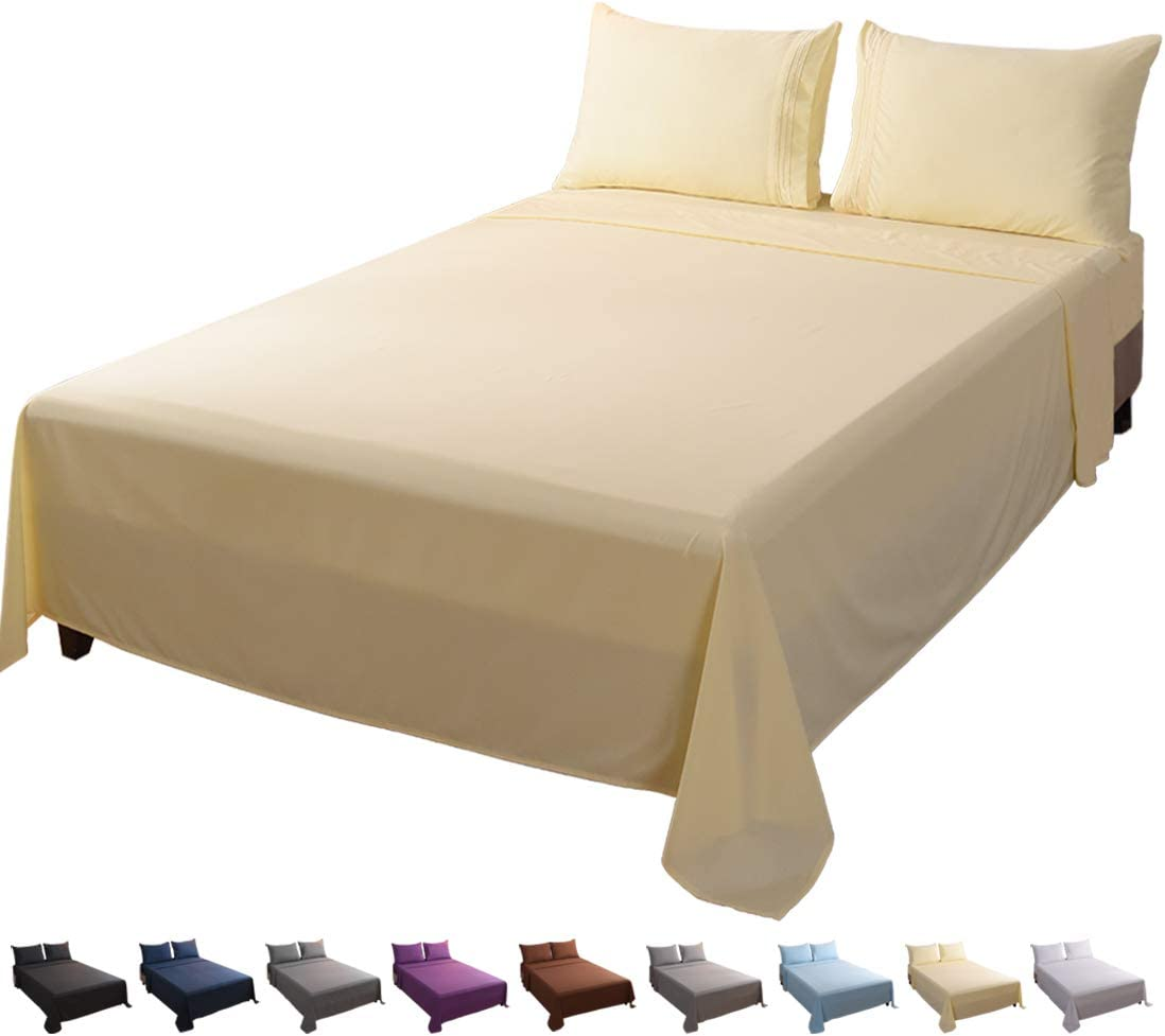 16/'/' Extra Deep Bed Fitted Sheet Queen Size Bottom Sheets Fade Resistant Khaki