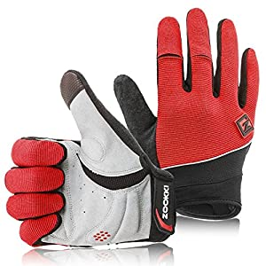 Zookki Work Gloves,Full finger-Red,XXL(9.4inches-10.2inches)