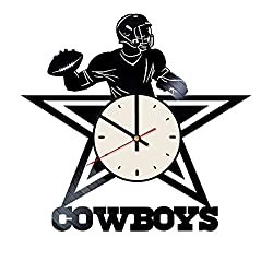 The Dallas Cowboys Vinyl Wall Clock Football Team Unique Gifts Living Room Home Decor
