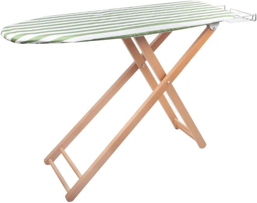 Tabla de planchar Tablas de planchar de madera maciza de planchado Plancha Tabla Inicio plegable del hierro del estante Tabla Inicio altamente ajustable (color: verde, Tamaño: 107x33x83cm) tabla de pl