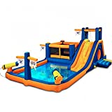DOVA Giant Water Slide For Kids Inflatable Bounce BUNDLE w/[TM] Bullet Proof Blower And 100 Multi-Colored Plastic Balls