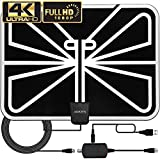 Antenna TV Digital HD, 70 Mile Range Skywire TV Antenna for Digital TV Indoor 1080P 4K with 18ft Coax Cable