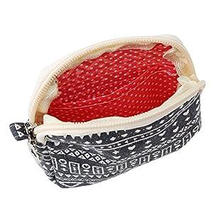 Laz-Tipa - Cute Cartoon Sanitary Napkin Bag Purse Holder Organizer Storage Bags with Zipper Traveling Travel Napkins Towel Pouch Pad Holder
