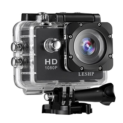 Action Camera, 12 MP 4K Full HD 1080P WiFi Waterproof Mini Sport Cam with 170 Wide-Angle Lens, 2.0 Inch LTPS Screen and Detachable Rechargeable Battery (Black, Basic section) ACEHE