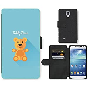 Hot Style Cell Phone Card Slot PU Leather Wallet Case // M99999711 Cute Teddy Bear // Samsung Galaxy S4 S IV SIV i9500