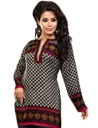 Indian Tunic Top Womens/Kurti Printed Blouse India Clothing