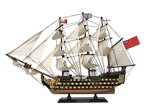 Hms Victory Wood Model Ship - HMS Victory wooden tall model ship 24