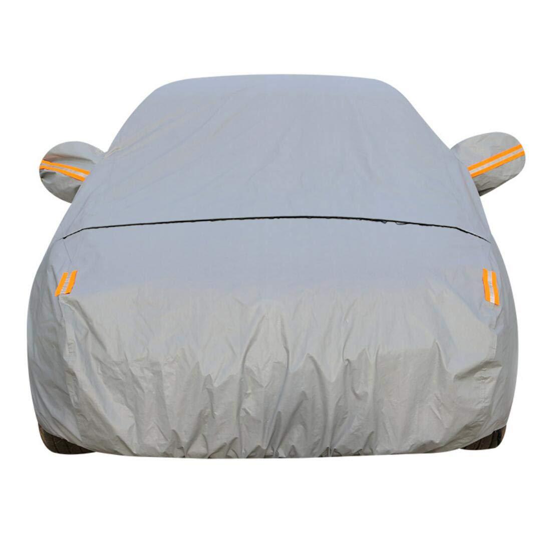 Couverture de Voiture 4.8m 5.4m 5.8m avec Coton Imperméable Ceintures Coupe-Vent Sedan SUV Limousine Véhicules Étendus Résitant à Neige et Rayures, avec Ouverture à Fermeture Éclair - SUV XXL
