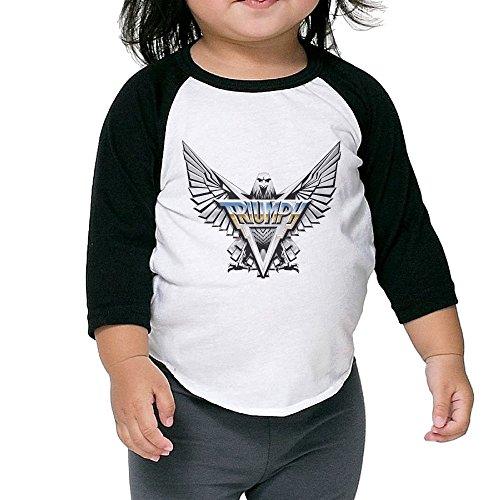 Kids 3/4 Sleeve Triumph Canadian Hard Rock Power Band Raglan Shirts Crazy Jersey Shirt