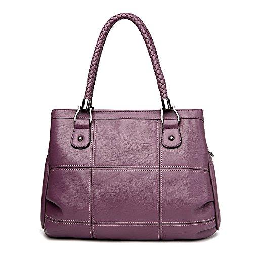 Tibes Handtaschen damen Damenhandtaschen Taschen Beutel Einkaufstasche Messenger bag Clutches bags Umhängetasche Crossbody bag Lila Lila 9Wtjovh6