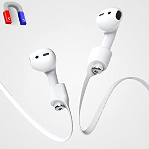 Airpods Strap, iAbler Airpods Magnetic Strap iPhone 8/8 Plus/X / 7 / iPhone 7 Plus AirPods Sports Strap Wire Cable Connector for Apple Airpods Like a Necklace with Your AirPods.