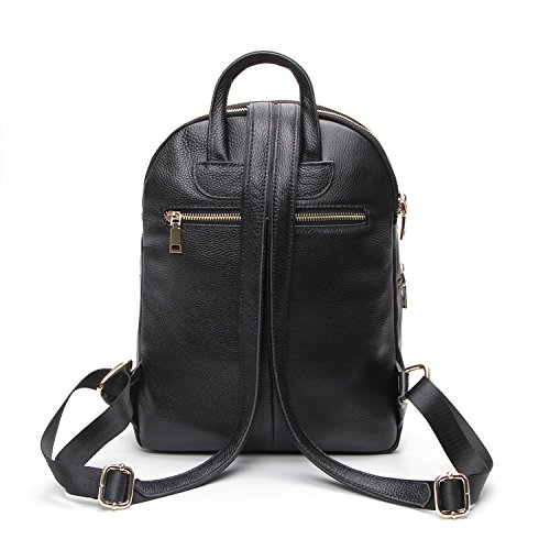 Dos Backpack Femme Tassel De Grande étages Soft Sac Mode Capacité Black Zipper PU Multi à Simple qHw6ESHrx