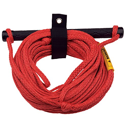 (Full Throttle Aluminum Handle Ski Rope -1 Section, 75 Feet (Red))