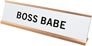 Boss Babe Nameplate Desk Sign