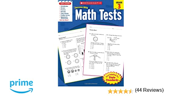 Counting Number worksheets math and money worksheets : Scholastic Success with Math Tests, Grade 3 (Scholastic Success ...