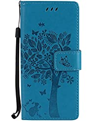 Galaxy S8 Wallet Case, UNEXTATI Leather Flip Cover Case with Kickstand Feature for Samsung Galaxy