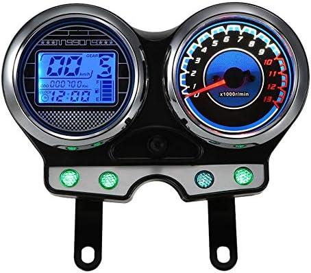 CUHAWUDBA Nuevo Medidor de Pantalla del Salpicadero de la Motocicleta Medidor Apto para EN125-3F//EN150-A 2012-2016
