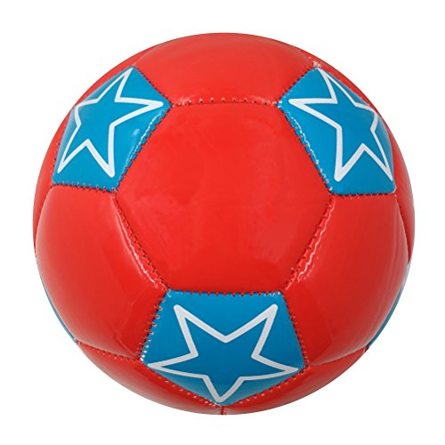 Aoneky Mini Size 2 Soccer Toys for Kids Aged 1 - 3 Years Old (Star, (Small Soccer Ball)