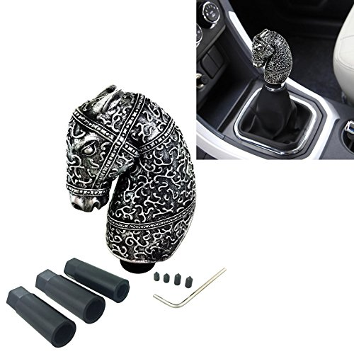 (Arenbel Horse Head Car Gear Stick Shifter Knob, New Universal Animal Manual and Automatic Shift Lever, Fit Most Cars)