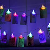 LED Photo Clip String Light - 30 Photos Clip 3M Battery Powered Star LED Picture Lights Wall Fairy String Lights for Bedroom Decoration Hanging Photos Cards and Artworks