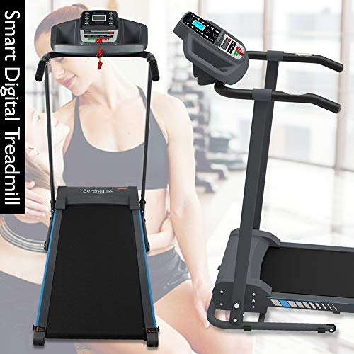 SereneLife Electric Folding Treadmill Exercise Machine - Smart Compact Digital Fitness Treadmill Workout Trainer w/Bluetooth App Sync, Manual Incline Adjustment, for Walking, Running, Gym SLFTRD20 by SereneLife (Image #7)