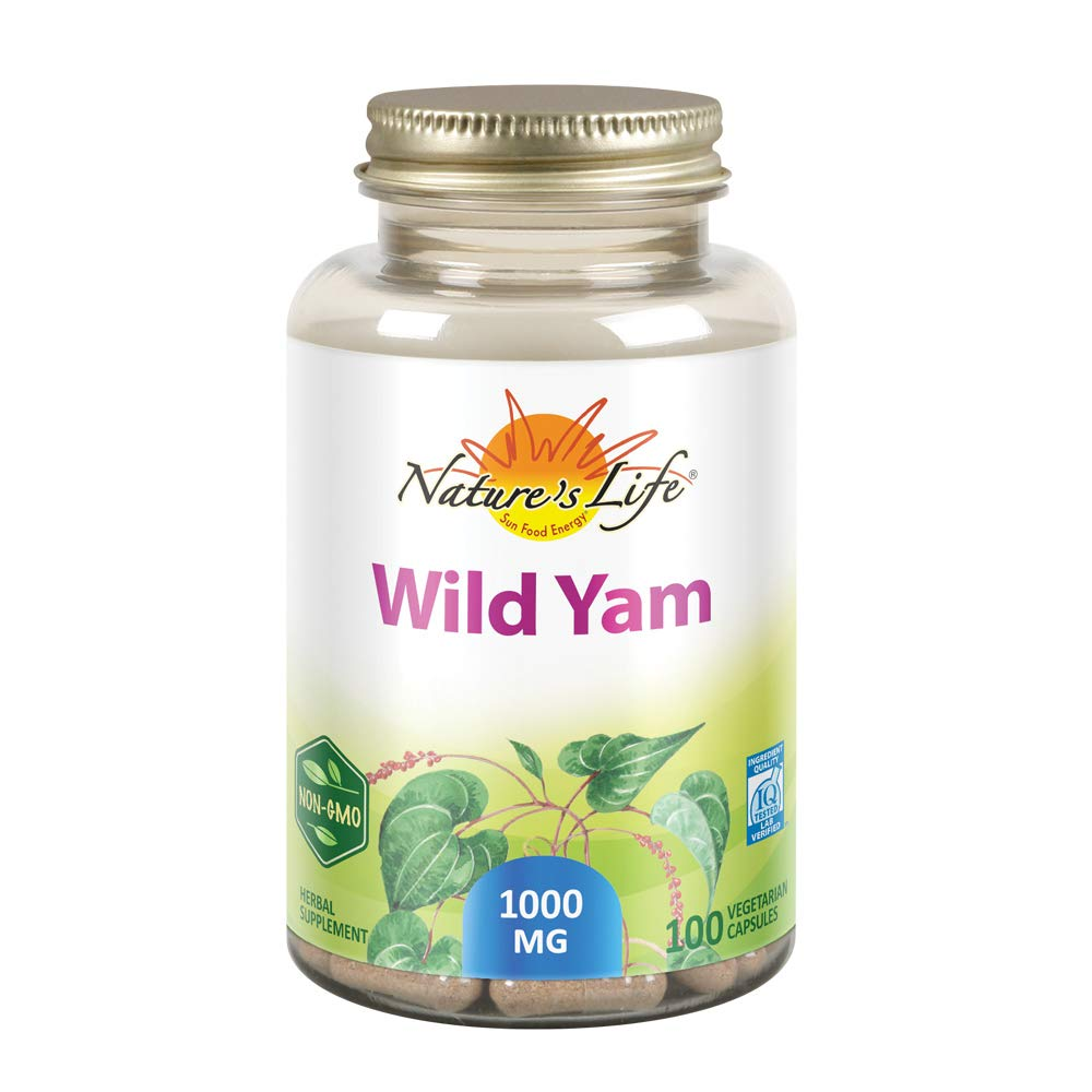 Nature's Life Wild Yam 1000mg Herbal Supplement | Womens Health Formula | with Diosgenin for Healthy Balance Support | Non-GMO | 100 Veg Caps