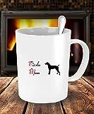Dog Lover Gifts For Mom - Vizsla Dog White Coffee Mug - 15 oz Tea Cup - Ceramic