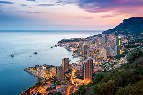 Pedecor poster Monte Carlo Monaco Sea Houses Mountains Eveni