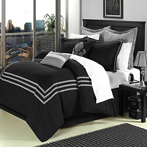 Chic Home Cosmo 8 Piece Comforter Set Embroidered Hotel C...