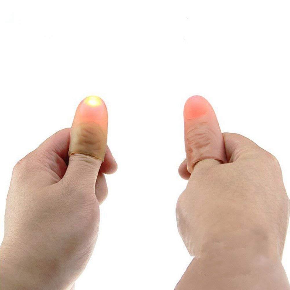 Tianfudedian Strumento Magico del Giocattolo di burla di Finger Finger Lamp della Lampada di Puntelli magici Wow Thumbs Illumina la Tua Vita con Magic Colors 3 Coppie