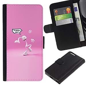 LECELL--Cuero de la tarjeta la carpeta del tirón Smartphone Slots Protección Holder For Apple Iphone 6 PLUS 5.5 -- Una pierna más --