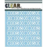 Clear Scraps CSSM6-XOXOX Translucent Plastic Film Stencil, Xoxox, 6-Inch x 6-Inch