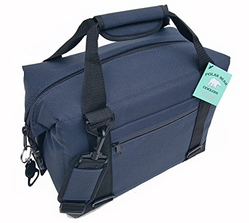 (Polar Bear Coolers - Nylon Line - Quality Like No Other from The Brand You Can Trust - See Touch & Feel The Polar Bear Difference - Patent Pending - 12 Pack Navy)