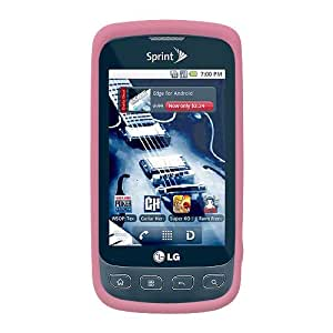 Amzer AMZ89639 Silicone Skin Jelly Case for LG Optimus S LS670 (Pink)