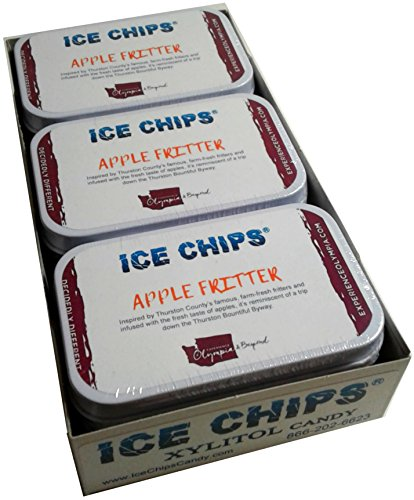 ICE CHIPS Xylitol Candy Tins (Apple Fritter, 6 Pack) by ICE CHIPS