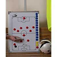 pro11 - Football Tactic board, 45 x 60cm (17.7 x 23.6 inch) including bag, magnets, pen and eraser
