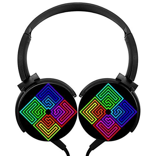 - MagicQ Rainbow Labyrinths Stereo Deep Bass Wired Headphones Earphones
