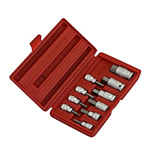 "WALLER PAA Hex Bit Socket Set | 10pc Drop Forged Allen Key Head Metric 3/8"" & 1/2"" Drive"